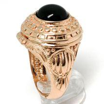 Silberring 925 Pink, Türblech Tür Bremsbeläge, Onyx Cabochon, Einstellbar image 3