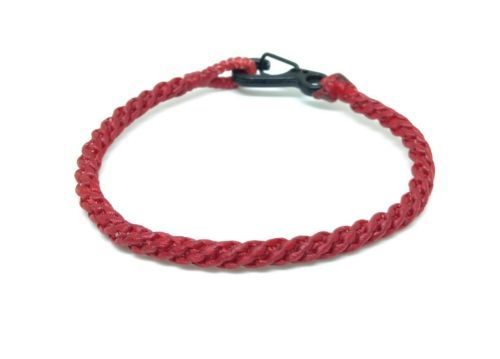 Fair Trade Classic Red Wax Cotton Weave Thai Wristband Handcrafted Bracelet