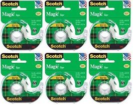 Scotch 3M 122 Magic Tape, 3/4 x 650 Inches (Pack of 6) - $24.75