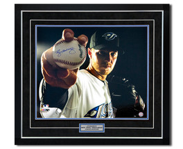 Roy Halladay Toronto Blue Jays Autographed Baseball Close-Up 30x33 Frame... - $700.00