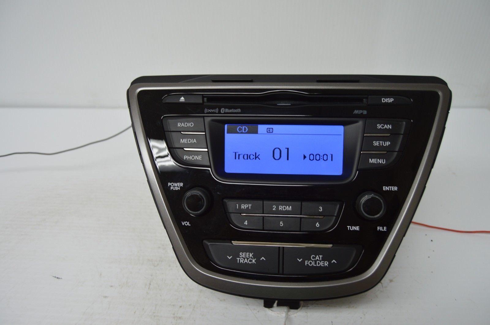 2011-2013 HYUNDAI ELANTRA RADIO CD PLAYER OEM RADIO 96170-3X165RA5 TESTD K49#018