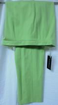 LOUIS FERAUD Saks Fifth Avenue Lime Casual Cotton Stretch Pants Slacks $... - $63.69