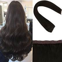 Sunny Brown Clip in Hair Extensions 18 inch Dark Brown Clip Hair Extensions Huma