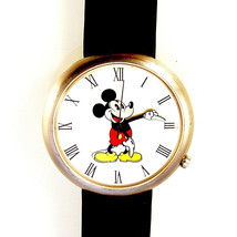 Disney Mickey Co Watch. Rare Fossil Collectable Easy Read Big Dial & Num... - $87.96