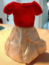 Vintage BARBIE SKIPPER Silk 'N Fancy Dress Red Velvet White Satin - $17.99
