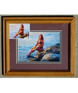"Framed Steve Woron ""Amys Sunset"" Signed by Amy & Steve - $39.47"