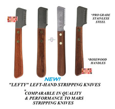 Left Hand Lefty DOG COAT STRIPPING KNIFE Stripper Carding Knives*Compare... - $20.99+