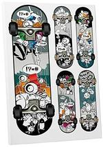 "Pingo World 0715Q82HJUY ""Skateboard Collage Urban Pop"" Gallery Wrapped Canvas Wa - $47.47"