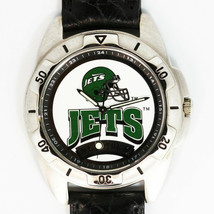New York Jets NFL Fossil Man New Unworn Rare Vintage 1995 Watch Leather Band $79 - $78.06