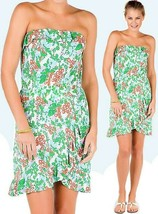 Lilly Pulitzer Flor Multi Mini Bee In Your Bonnet Ruffle Strapless Jerse... - $94.50