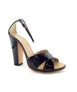 GIUSEPPE ZANOTTI Size 8.5 Black Patent Criss Cross Ankle Strap Heels Sho... - $169.76 CAD