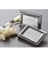 96 Hammered Polished Silver Photo Frame / Place Card Holder Wedding Favors - $123.45