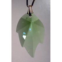 Crystal Leaf Earrings image 4