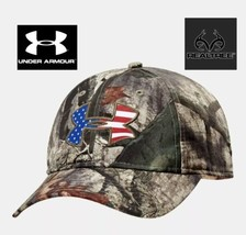 Under Armour USA Camo Hat Hunting Fishing Boating Summer Cap Snapback OSFA - $29.70