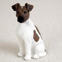 Conversation Concepts Fox Terrier Brown & White Tiny One Figurine - $9.99