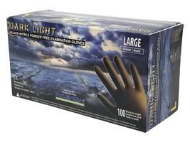 Adenna Dark Light 9 mil Nitrile Powder Free Exam Gloves (Black), Large -... - $22.39