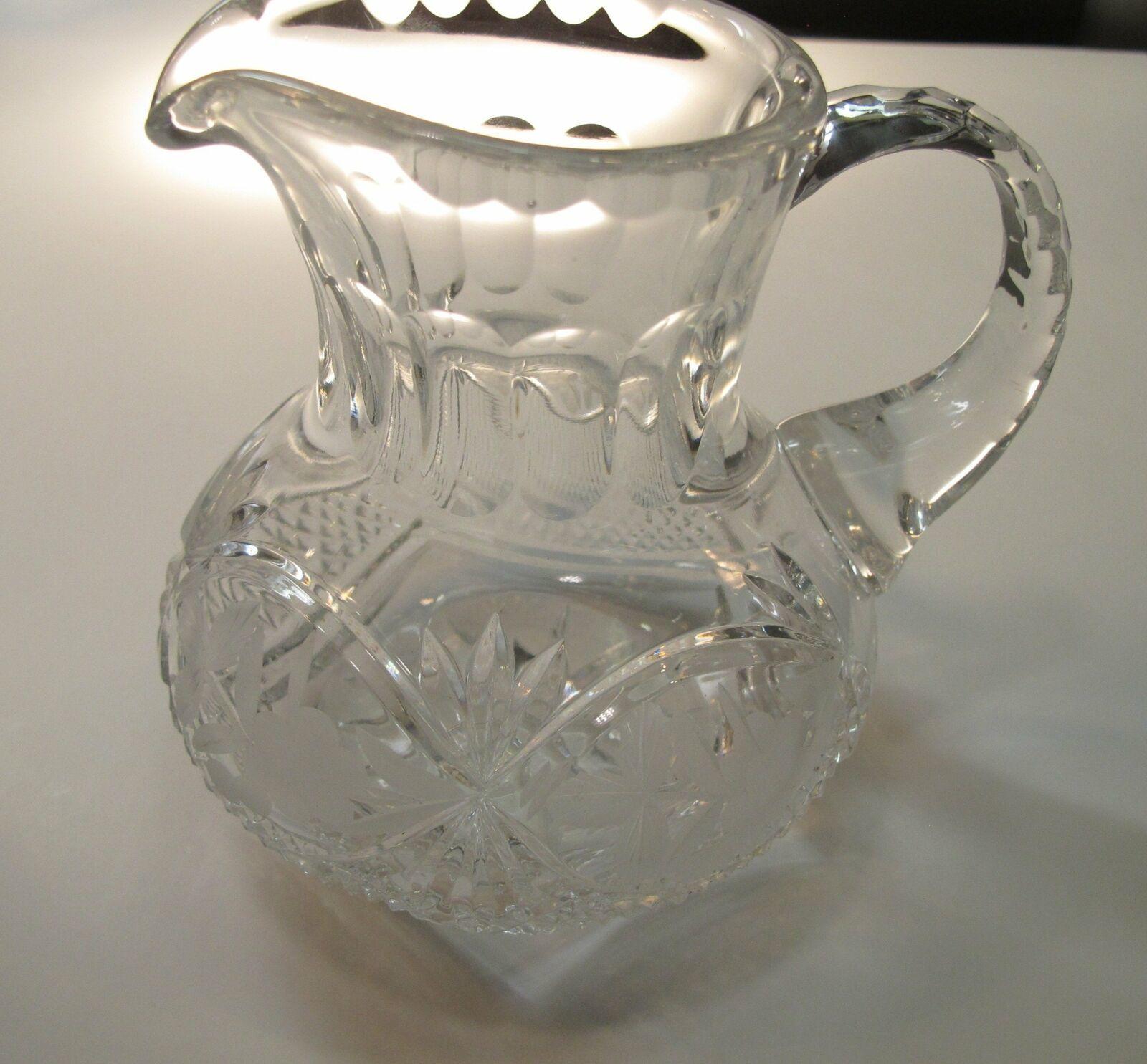Cut glass Pitcher lead crystal - $26.77