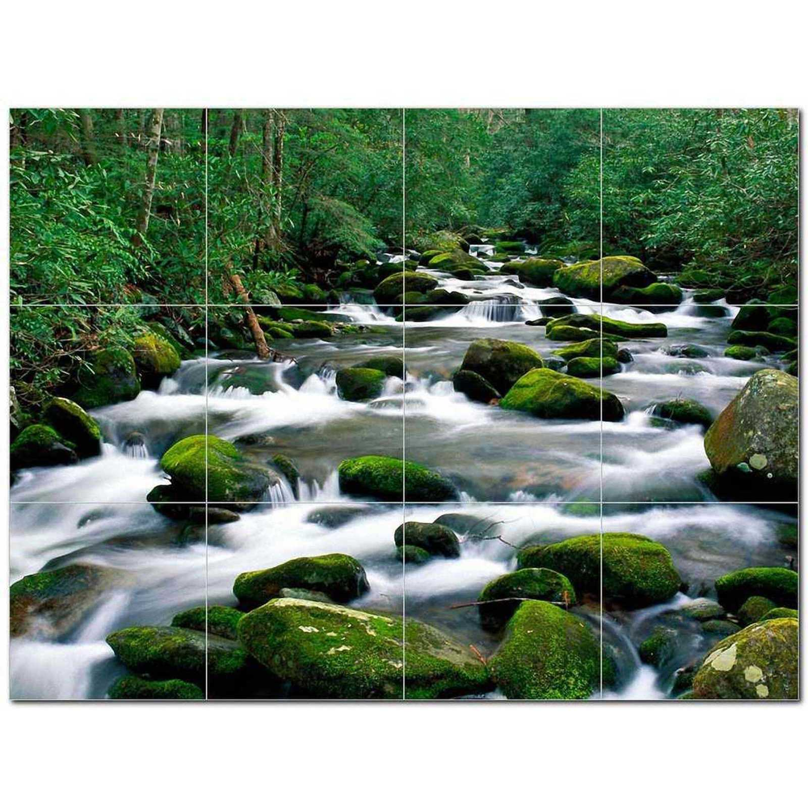 Primary image for Waterfall Photo Ceramic Tile Mural Kitchen Backsplash Bathroom Shower BAZ406127