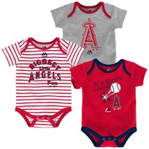 Los Angeles Angels of Anaheim Infant Home Run Bodysuit 3-Piece Set MLB Baby