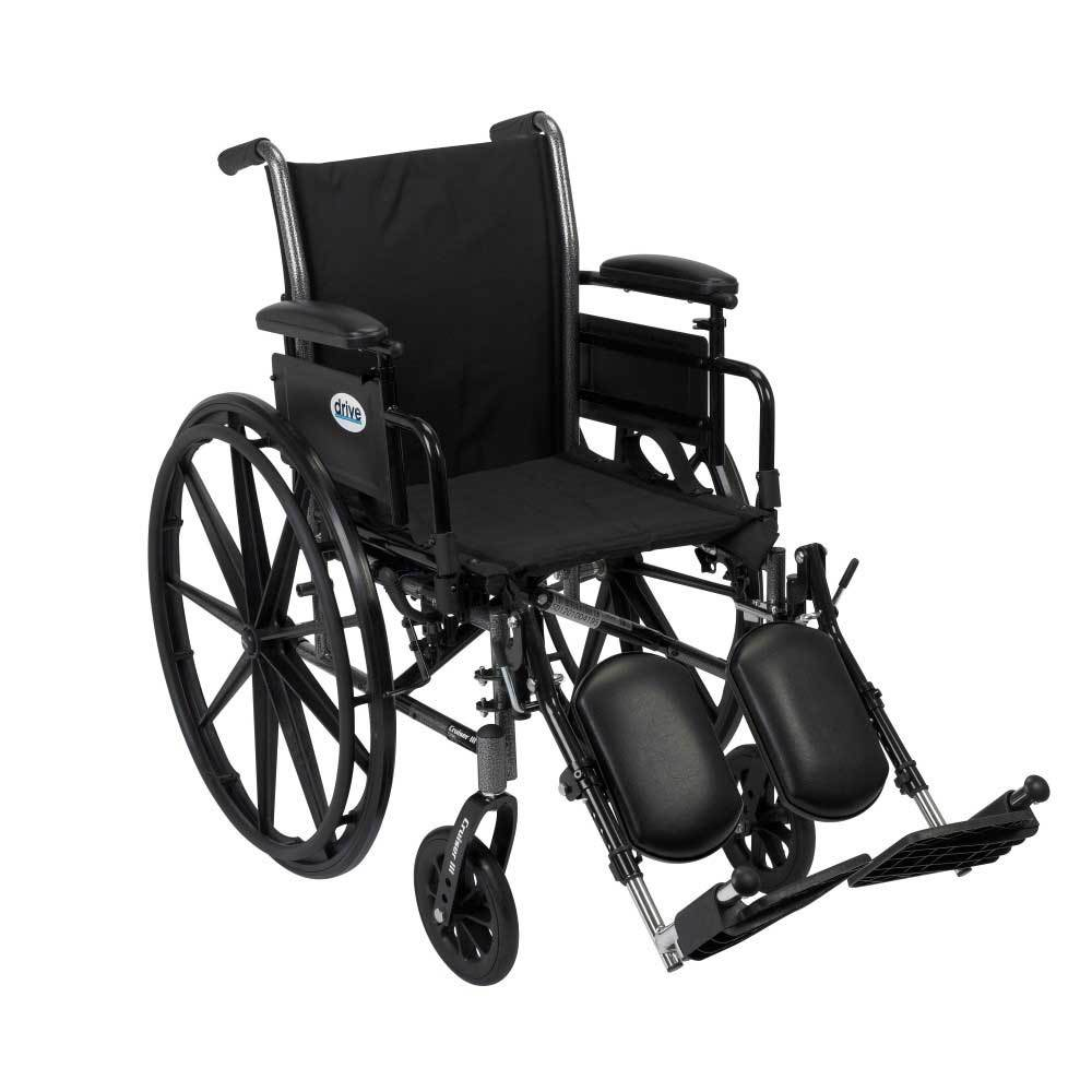 Drive Medical Cruiser III With Adjustable Arms and Leg Rests 16''