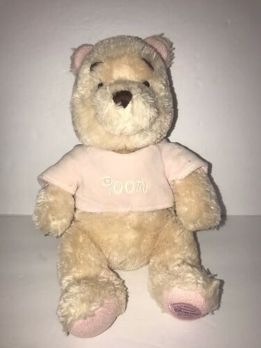 Primary image for Disney Store Exclusive Winnie The Pooh Pink Shirt Beanbag Plush 12""