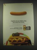 1991 Kraft Cheez Whiz Ad - Quickly turn an ordinary dog into man's best friend - $14.99