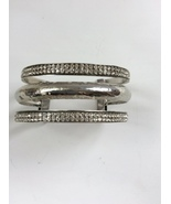 "Three Piece Silver Tone Bracelet - Width Approximately 1 3/8"" - $15.00"