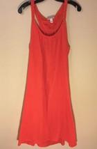 Liz Lange Maternity Hot Red Orange Halter Sun Dress Medium M NWT - $17.41