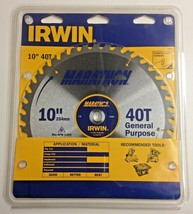 "Irwin 14070 10"" x 40T Construction Carbide General Purpose Circular Saw ... - $23.76"