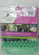 Destron Fearing DuFlex Visual ID Livestock Panel Tags LG Green 25 Sets 1 to 25 image 1