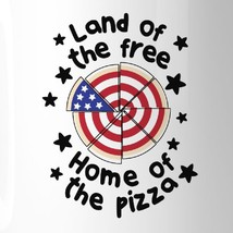 Home Of The Pizza Funny Patriotic Gift Coffee Mug For Pizza Lovers image 2