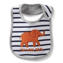 "Carter's ""I'm A Big Deal"" Elephant Teething Bib (One Size) - $7.99"