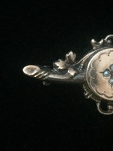 Victorian Pearl Inlaid Mourning Brooch/Bar Pin image 3