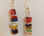 Earrings multi color blocks  1  30 thumb155 crop