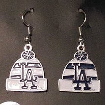 MLB Los Angeles Dodgers Knit Hat Dangler Earrings - $12.86