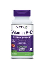 Natrol Vitamin B12 Fast Dissolve Tablets, Promotes Energy, Supports a Healthy Ne image 1