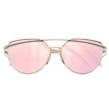 Mujer Hombre Gafas Metal Lente Plana Modernas Vintage Reflectante - $8.55