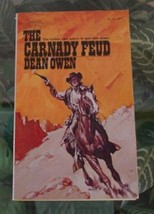 1974 Dean Owen THE CARNADY FEUD Manor Books Western Vintage Paperback - $7.00
