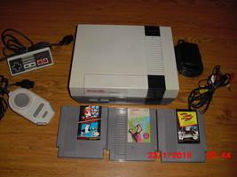 Nintendo NES System W 3 GAMES MARIO/DUCK HUNT,WIN LOSE OR DRAW & GOLF - $108.89