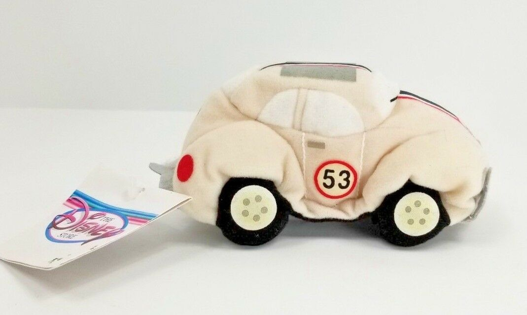 Disney Store Plush Beanie HERBIE The LOVE BUG 53 Beetle Car Disney Store Tag image 1