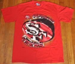 Vintage 1995 San Francisco 49ers NUTMEG Football NFL red T shirt NEW Old... - $30.59