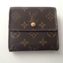 Louis Vuitton Mono Brown Elise Compact Tri-Fold Wallet 4in x 4in (SP0050) - $170.95