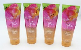 Bath & Body Works Sweet Pea Golden Sugar Scrub, 8 oz, New, (Set of 4) - $49.99