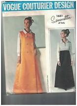 1651 Vintage Vogue Sewing Pattern Coat Dress Simonetta Couturier Design ... - $35.81