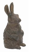 Cast Iron Standing Rabbit Garden Figure - $31.84