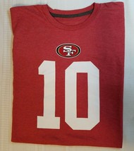 NEW NFL San Francisco 49ers Mens Jimmy Garoppolo #10 T-Shirt Red Size Large - $12.00
