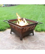 Outdoor Fire Pit - 32 Inch Large Square Wood Burning - $225.00