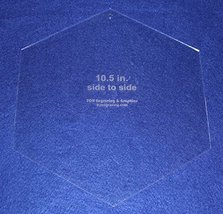 "Hexagon 10 1/2"" Side to Side - No seam 1/8"" thick - $22.99"