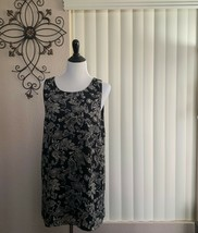 Forever 21 contemporary dress black and cream print size XL - $14.73