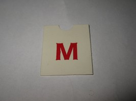 1967 4CYTE Board Game Piece: Red Letter Tab - M - $1.00